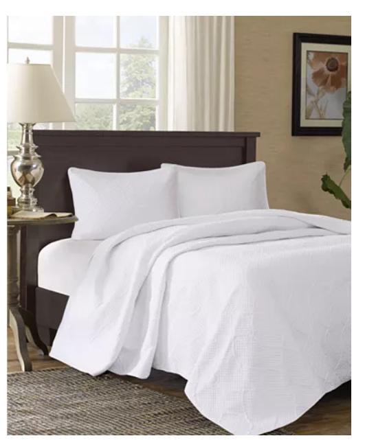 King Bedspread Set White Bedding I1368, Madison Park Bedding Rn 91519
