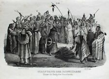 Karl Bodmer Monitari Indianer Skalp scalp Ritual Tanz Medizinmann Sioux Schmuck