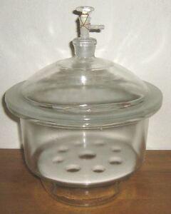 Glass-desiccator-vacuum-jar-lab-dessicator-dryer-8-034-New