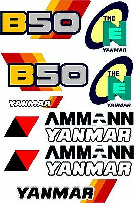 Yanmar B50 Digger Decal Set