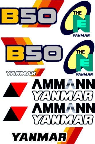 Yanmar B50 Excavadora Juego de Pegatinas