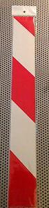 2x-Panel-De-Alerta-Reflectante-Rojo-Blanco-Pegatinas-Rayas-Reflector-40-x-5cm