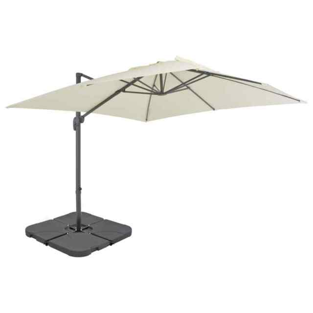 b18efafd15ce6 vidaXL Outdoor Umbrella With Portable Base Sand Garden Patio Parasol  Sunshade for sale online | eBay