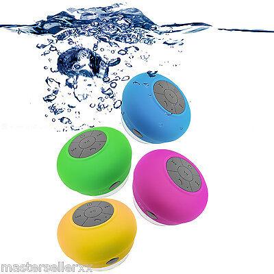 Waterproof Bluetooth Wireless Shower Handsfree Stereo Music Sound Speaker w/ Mic