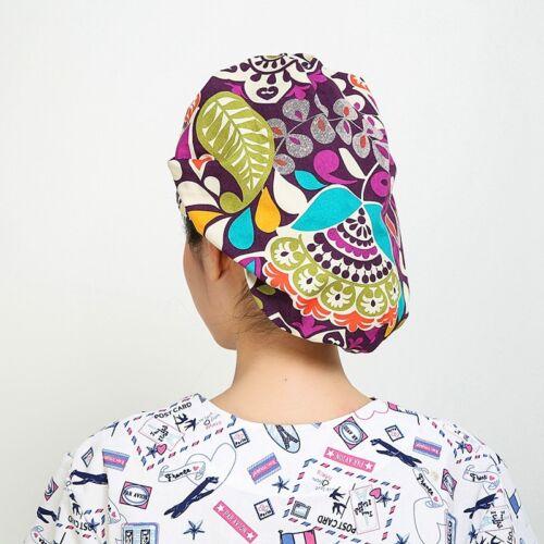 Men Women Nurse Doctor Printing Scrub Hats Medical Surgical Surgery Cap Unisex