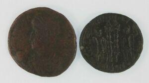 Roman-Empire-2-Coin-Emperor-Constantius-II-Set-AE3-4-amp-AE-Centenionalis