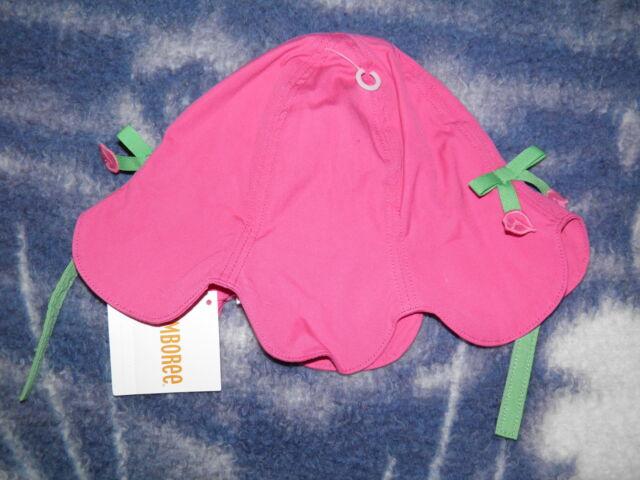 "GYMBOREE ""Bright Tulip"" Tulip Bucket Hat Size 4T-5T ~ NEW!"