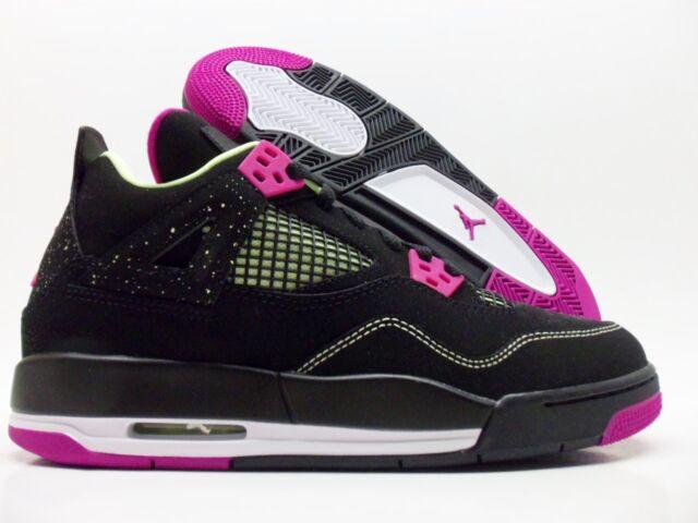 329eb2aab2501 Nike Air Jordan 4 Retro 30th GG Black/fuchsia Flash Size 9y 705344-027