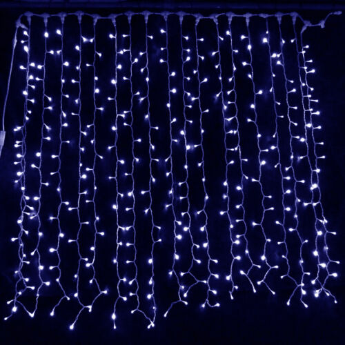 BLUE LED CURTAIN LIGHTS WEDDING BACKDROPS OCCASIONS FAIRY STRING XMAS LIGHTING