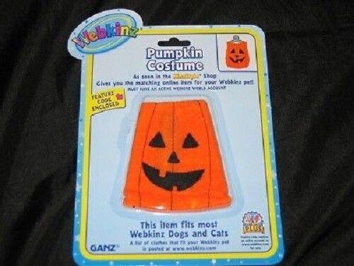 NEW Pet WEBKINZ Pumpkin Costume Halloween Clothing CODE Animal Cat Dog