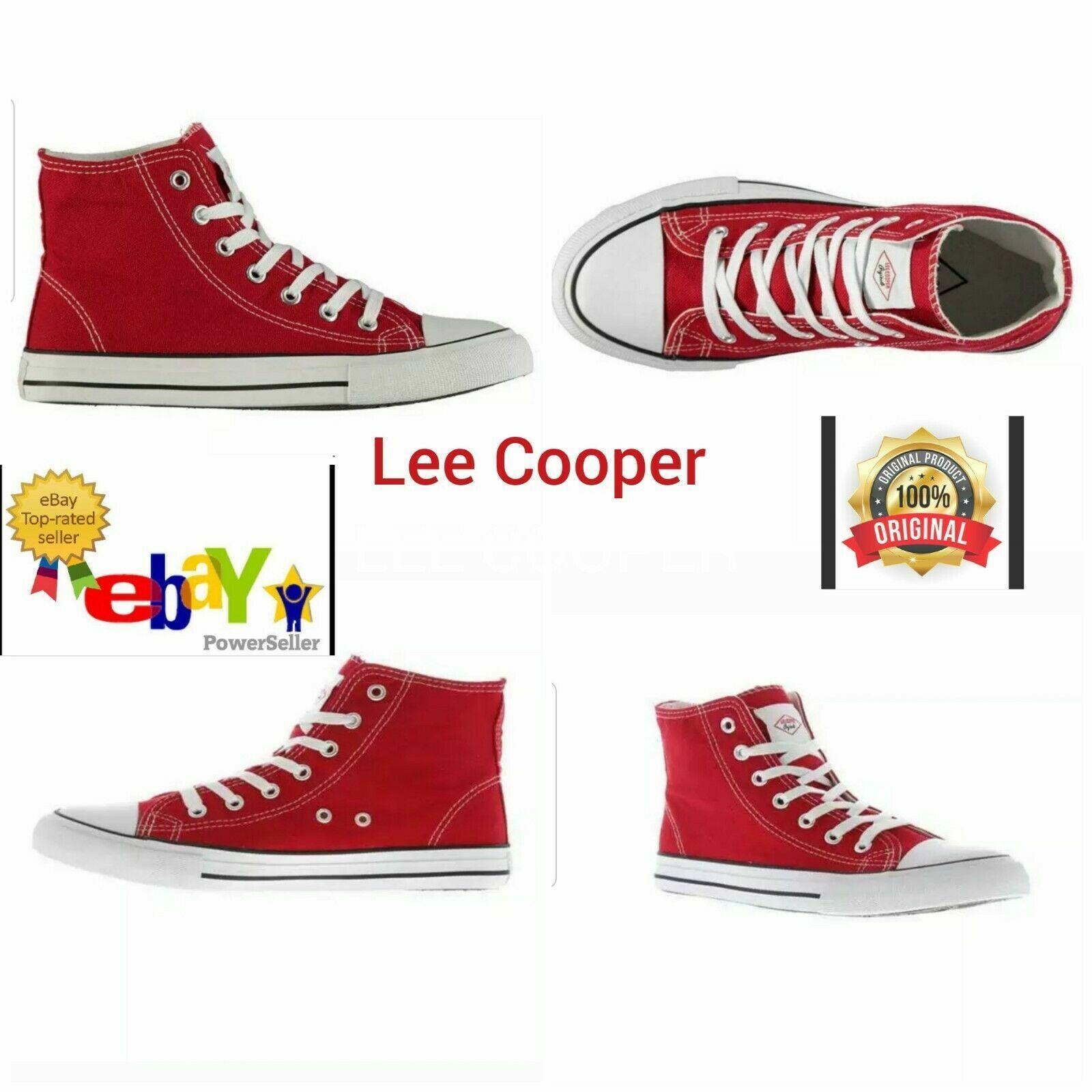 lee cooper canvas hi top