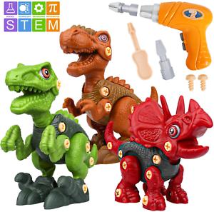 DIY Construction Set Rex Vanplay Take Apart Dinosaur Toy with Electric Drill 3