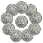 2017 Canada $5 1 oz. Silver Maple Leaf Lot of 10 Coins GEM BU SKU44168