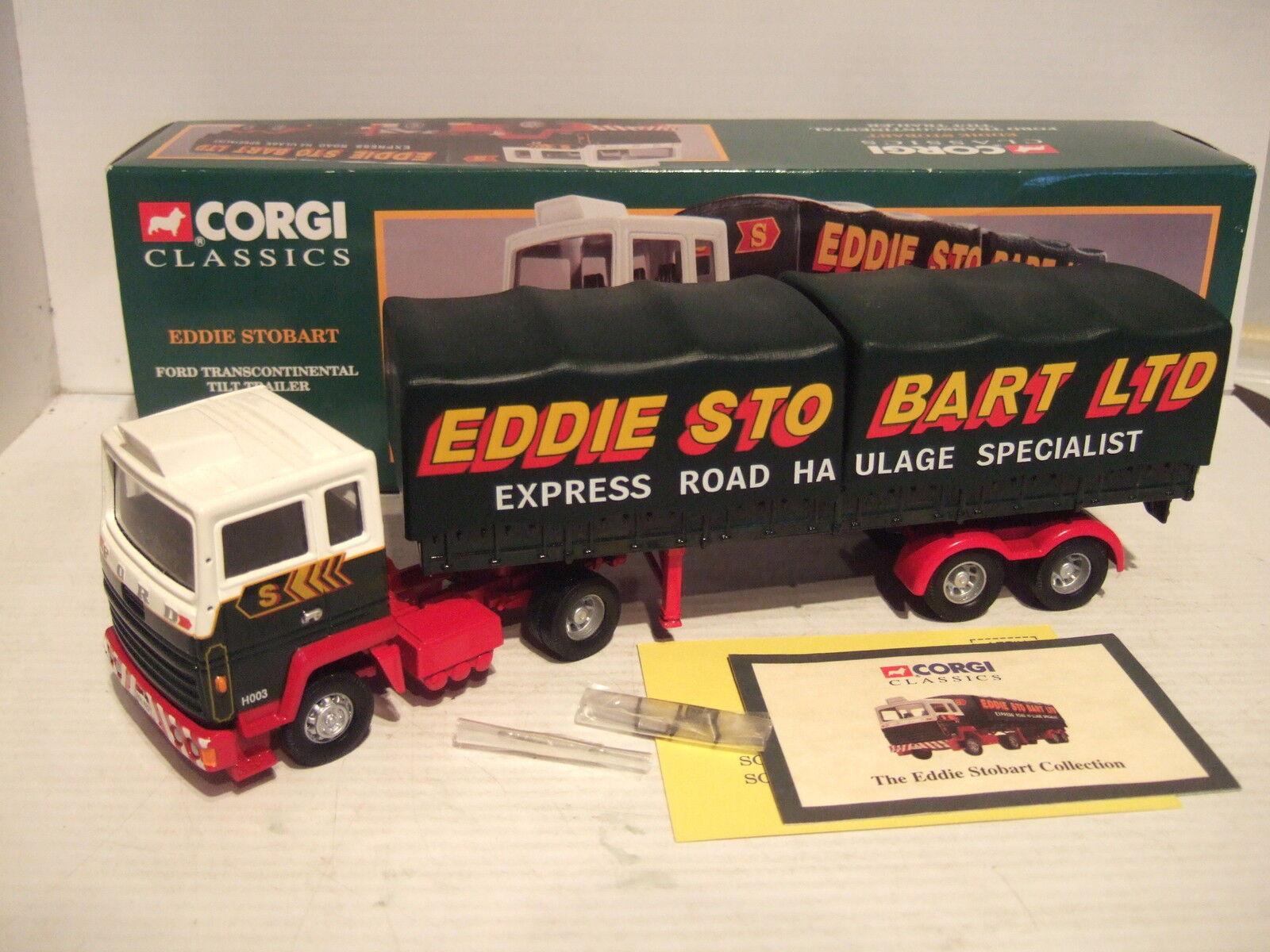 Corgi 23101 Ford transcontinental Tilt Trailer De Eddie Stobart En En En Escala 1 50. fe2860