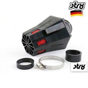 Filtre à Air STR8 D.28-35MM Evo Incliné 30 Degrés Noir Caoutchouc Mousse Rouge