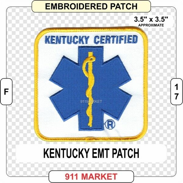 Kentucky Certified Patch Ky Emt Paramedic State Ems Emergency