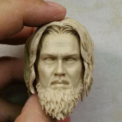Blank Hot 1//6 Scale The Hunter Wilderness Leonardo Head Sculpt Unpainted