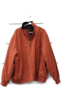 Claiborne-Outerwear-Microfiber-Men-039-s-Bomber-Jacket-Orange-Full-Zip-Size-2X