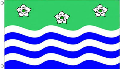 Bedfordshire Large Flag 5 x 3 FT 100/% Polyester With Eyelets English County