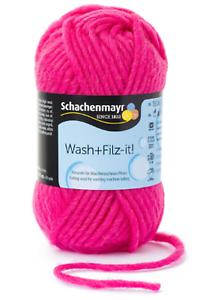 Wash+Filz-it  Filzwolle uni 50 g Schachenmayr  ideal für Taschen Deco
