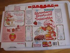 Strawberry Shortcake orginal 1985 cereal box General Mills mint condition RARE