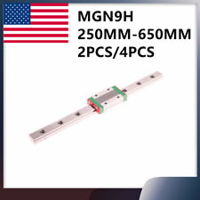 24pcs Mgn9h L250 600mm Miniature Linear Slide Rail Guide 24block For Cnc Diy