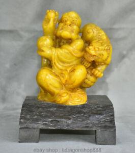 """8 """"chinois naturel Tianhuang Shoushan Stone Damo Dharma Sceau Bouddha"""