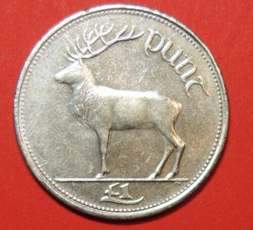 DEER. IRELAND IRISH ONE PUNT COIN 1999