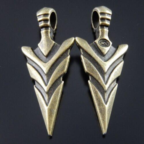 Vintage Style Bronze Tone Alloy Cool Sword Pendant Charm Weapons Decor 10pcs