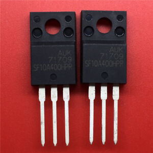 10-PCS-SF10A400HPR-SF10A400H-400V-10A-ULTRAFAST-DUAL-RECTIFIERS-TO-220F-New