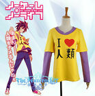 Anime No Game No Life Sora Shiro T Shirt Cosplay Costume Size S M L XL XXL