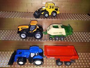 Siku-Spielzeug-Landmaschienen-Trecker-Traktoren-New-Holland-Krone-Fastrac-Krampe