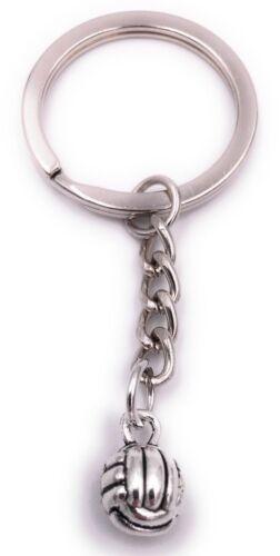 Volleyball Schlüsselanhänger Anhänger Silber aus Metall