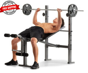 weight bench adjustable fitness workout with leg developer
