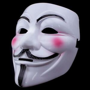 V For Vendetta Guy Fawkes Mask Anonymous Halloween Cosplay Fancy