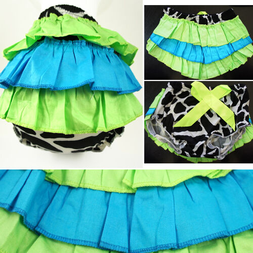 Giraffe Spotted Girls Baby Ruffle Pants Lace Diaper Cover Bloomers Skirt 6M-3T
