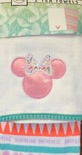 Disney Minnie Mouse 2 Tea Towels Primark And 100% Cotton