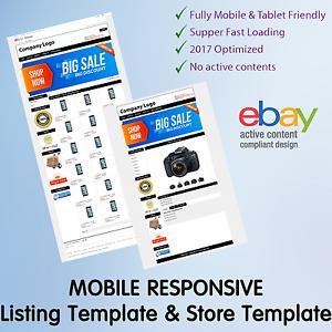 Ebay Template Store Design Listing Responsive Custom Professional - Custom ebay store template