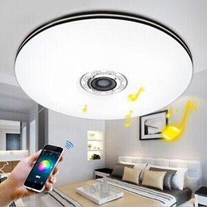 Details zu 32W LED Musik Deckenlampe,Dimmbar Deckenleuchte Bluetooth Lautsprecher Deutsch