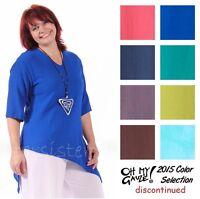 Oh My Gauze Cotton Cindy Angled Hem Top 1(s/m) 2(l/xl) 3(1x/2x) 2015 Disc Colors