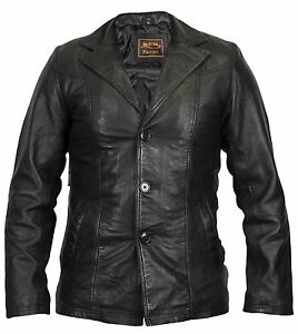 herren lederjacke aus weichem lamm nappaleder 70er jahre style leder blazer ebay. Black Bedroom Furniture Sets. Home Design Ideas