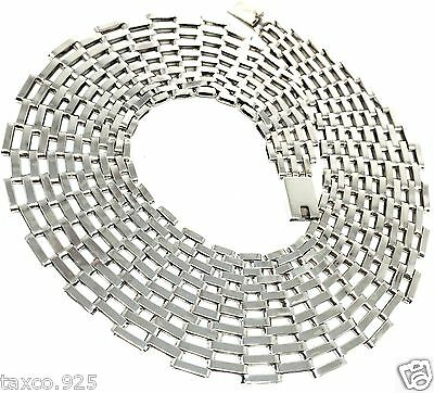 TAXCO MEXICAN 925 STERLING SILVER CHAIN LINK NECKLACE MEXICO
