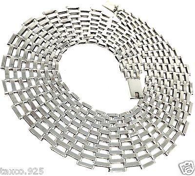 TAXCO MEXICAN STERLING SILVER CHAIN LINK NECKLACE MEXICO