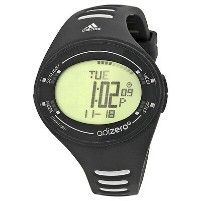 Adidas Adizero Digital Dial Black and White Polyurethane Mens Watch ADP3508