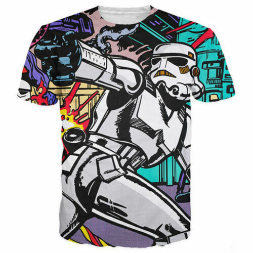 Funny Star Wars Darth Vader 3D Print Womens//Mens Casual T-Shirt Tee Short Sleeve