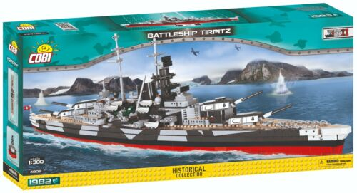 COBI 1300 Scale WWII 'German Battleship Tirpitz' 1982 Pieces Item #4809