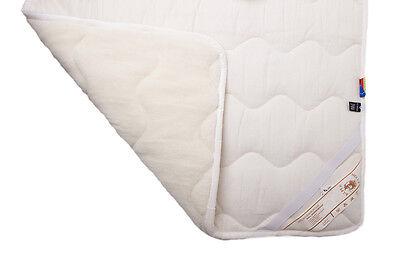 Unterbett aus Wolle Gelockt 100/% Wolle Bettauflage Schonbezug Made in Germany