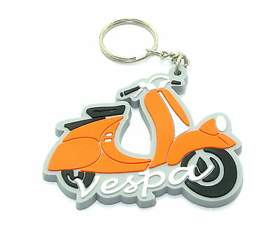 3 RUBBER VESPA MOTORCYCLE KEYCHAIN KEY RING