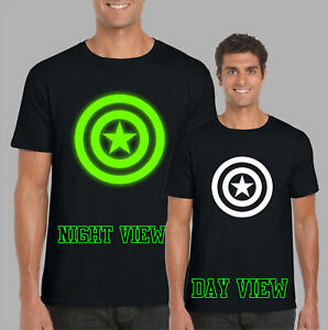 Captain-Inspired-Comic-Glow-In-The-Dark-T-Shirt-Superhero-Kids-amp-Adults-Top