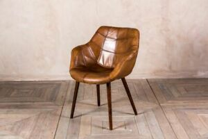 Details About Vintage Style Tan Leather Bucket Armchair Kitchen Dining Chair The Chepstow